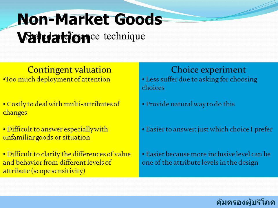 Non-Market Goods Valuation
