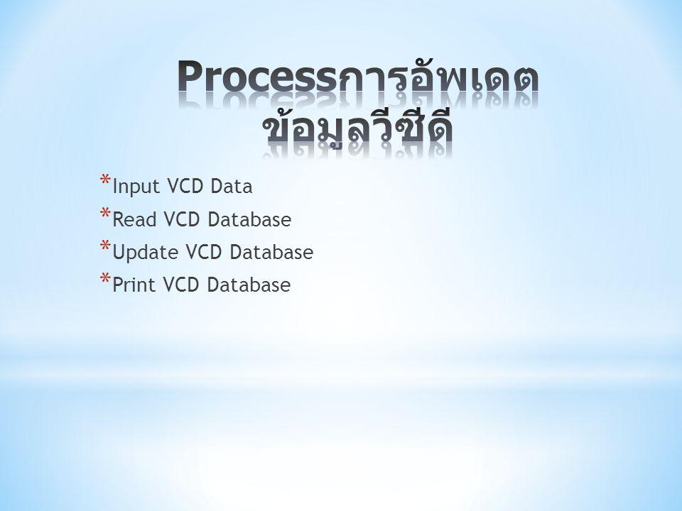 Processการอัพเดตข้อมูลวีซีดี