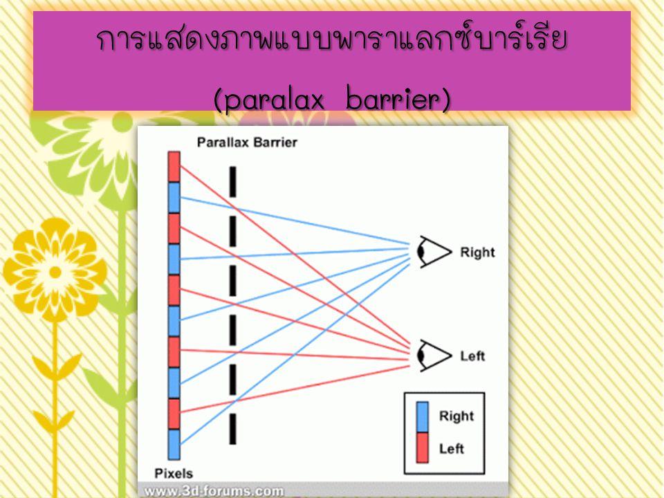 การแสดงภาพแบบพาราแลกซ์บาร์เรีย (paralax barrier)