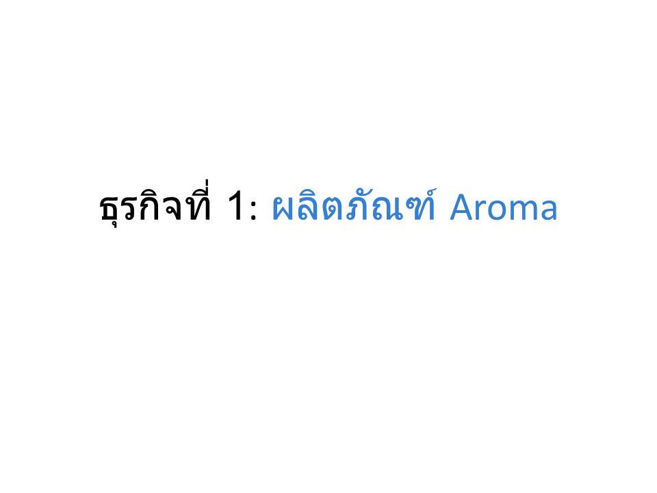 ธุรกิจที่ 1: ผลิตภัณฑ์ Aroma
