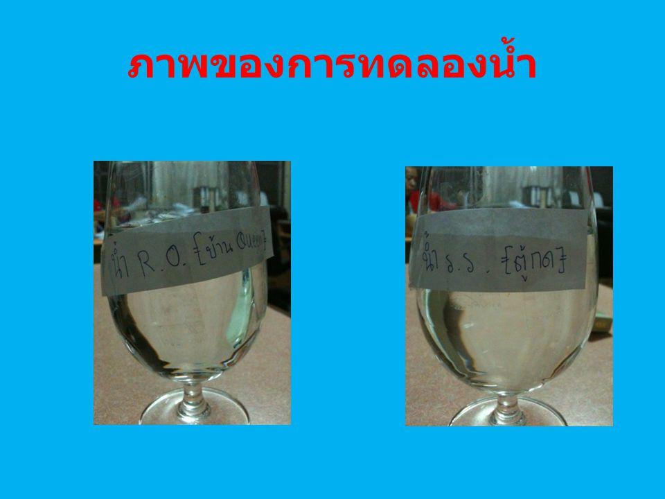 ภาพของการทดลองน้ำ