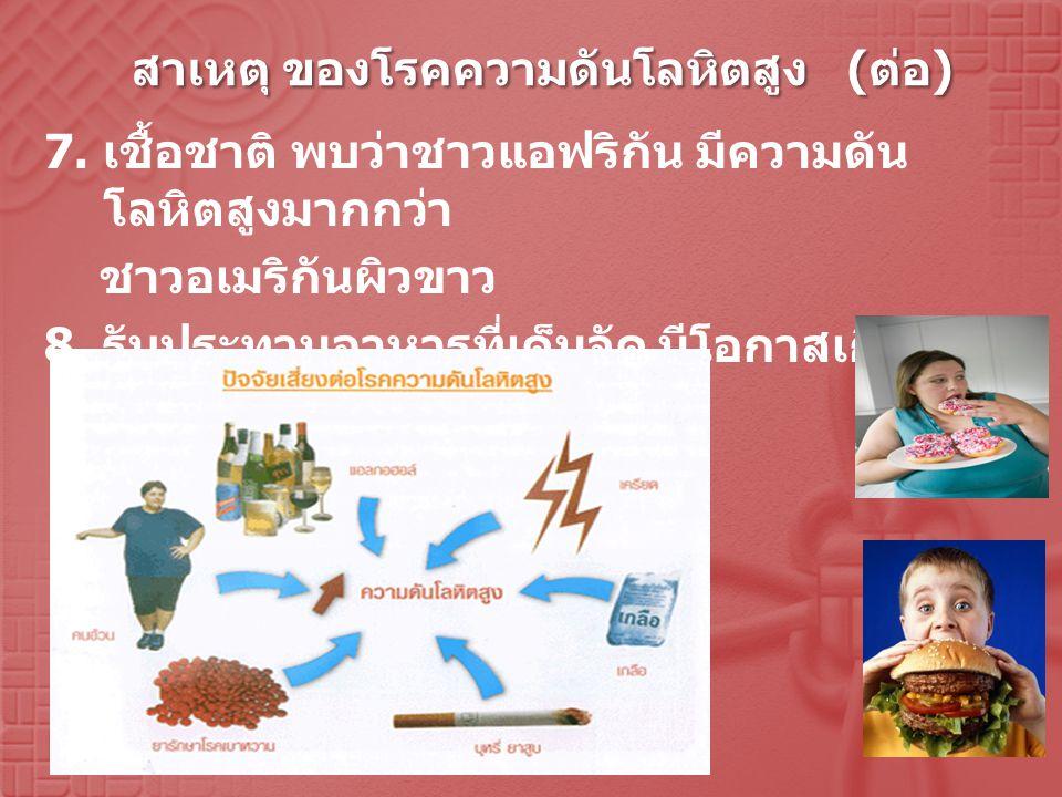 สาเหตุ ของโรคความดันโลหิตสูง (ต่อ)