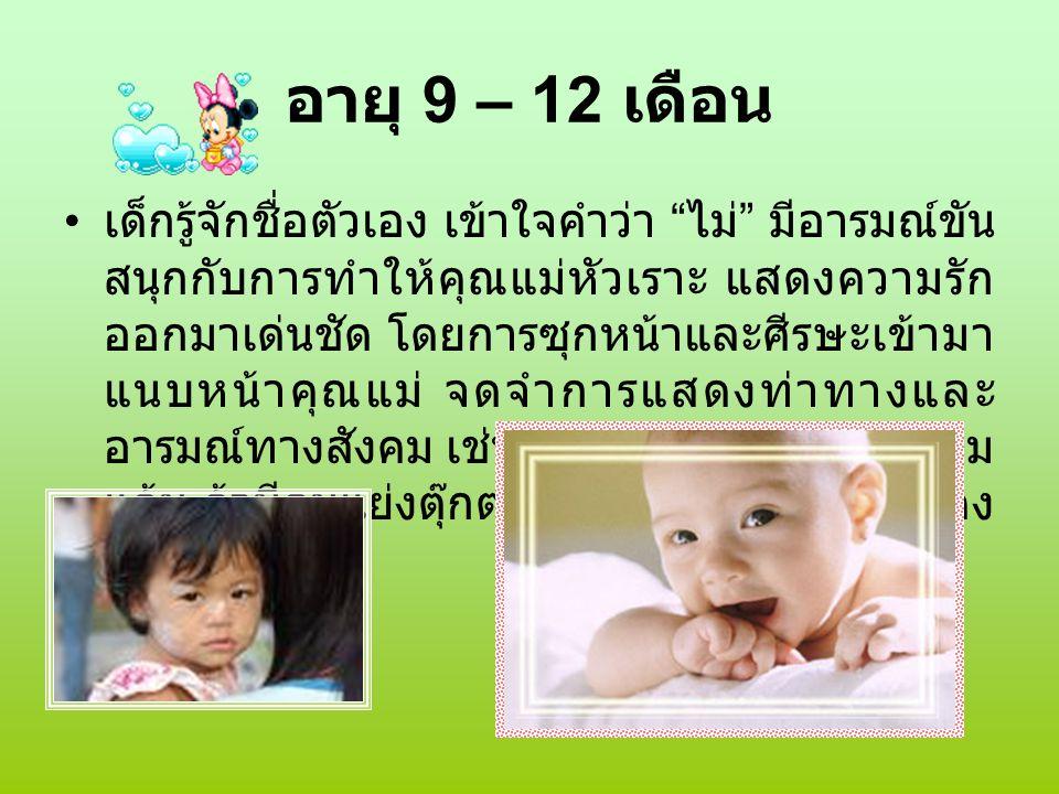 อายุ 9 – 12 เดือน