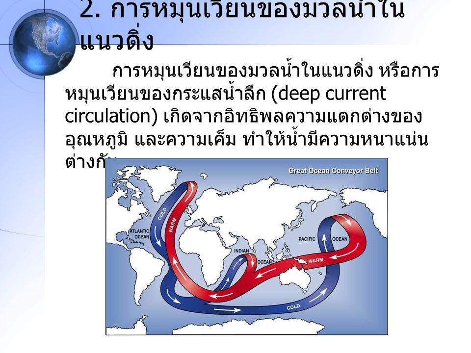 2. การหมุนเวียนของมวลน้ำในแนวดิ่ง