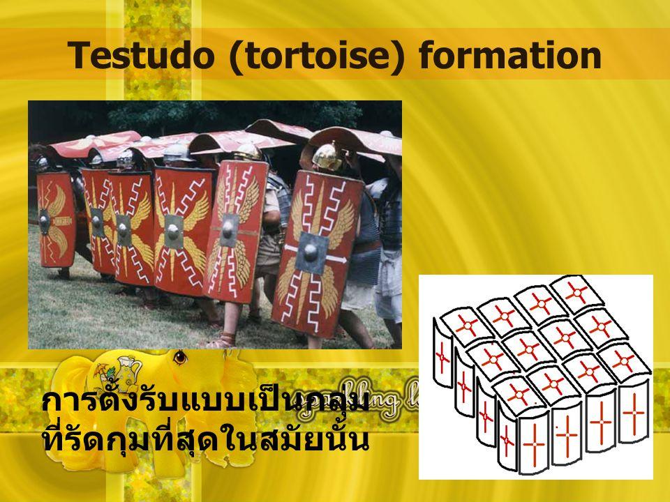 Testudo (tortoise) formation