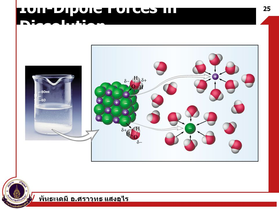 Ion-Dipole Forces in Dissolution