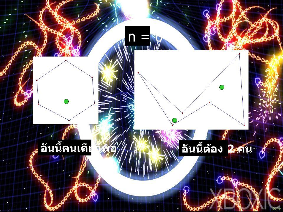 n = 6 อันนี้คนเดียวพอ อันนี้ต้อง 2 คน