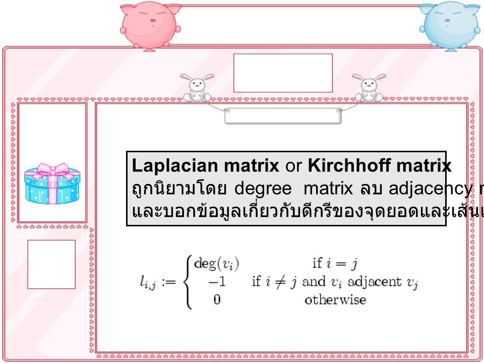 Laplacian matrix or Kirchhoff matrix
