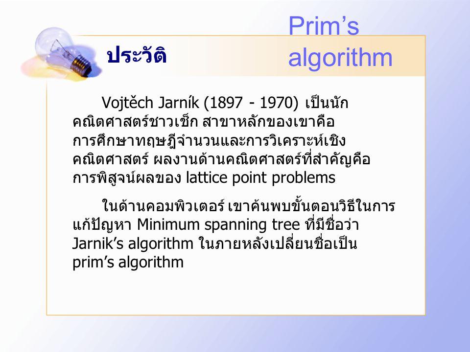 Prim's algorithm ประวัติ