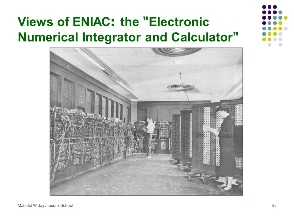 Views of ENIAC: the Electronic Numerical Integrator and Calculator