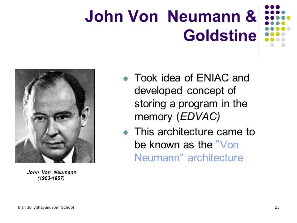 John Von Neumann & Goldstine