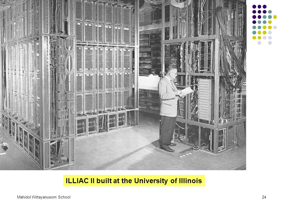 ILLIAC II built at the University of Illinois