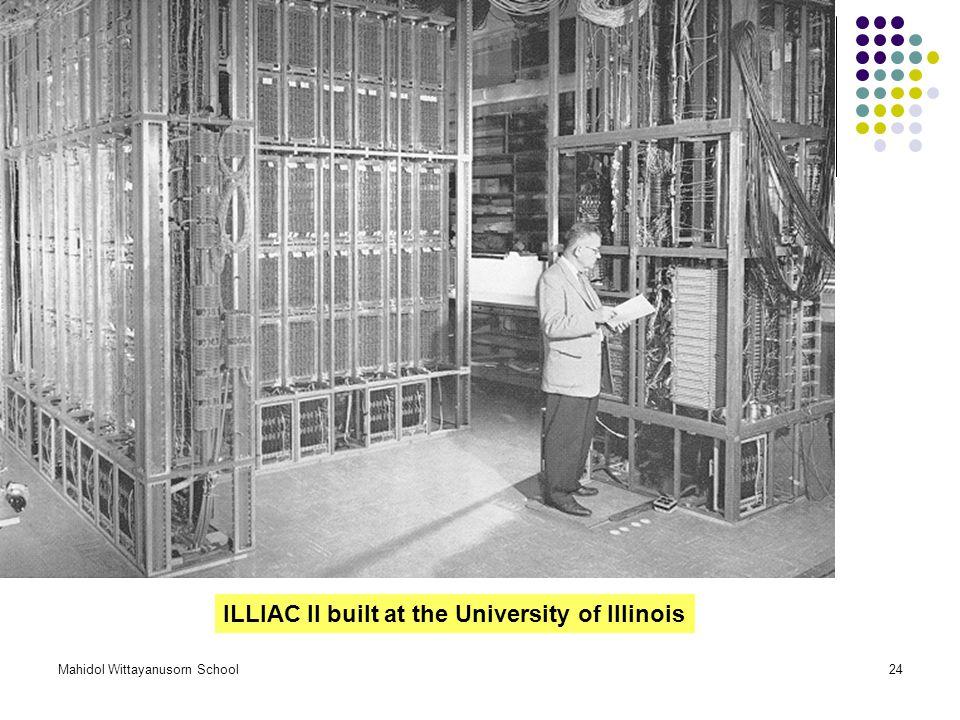 ILLIAC II built at the University of Illinois