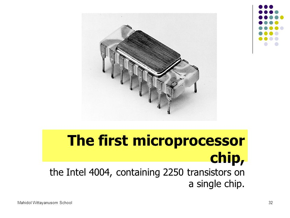 The first microprocessor chip,