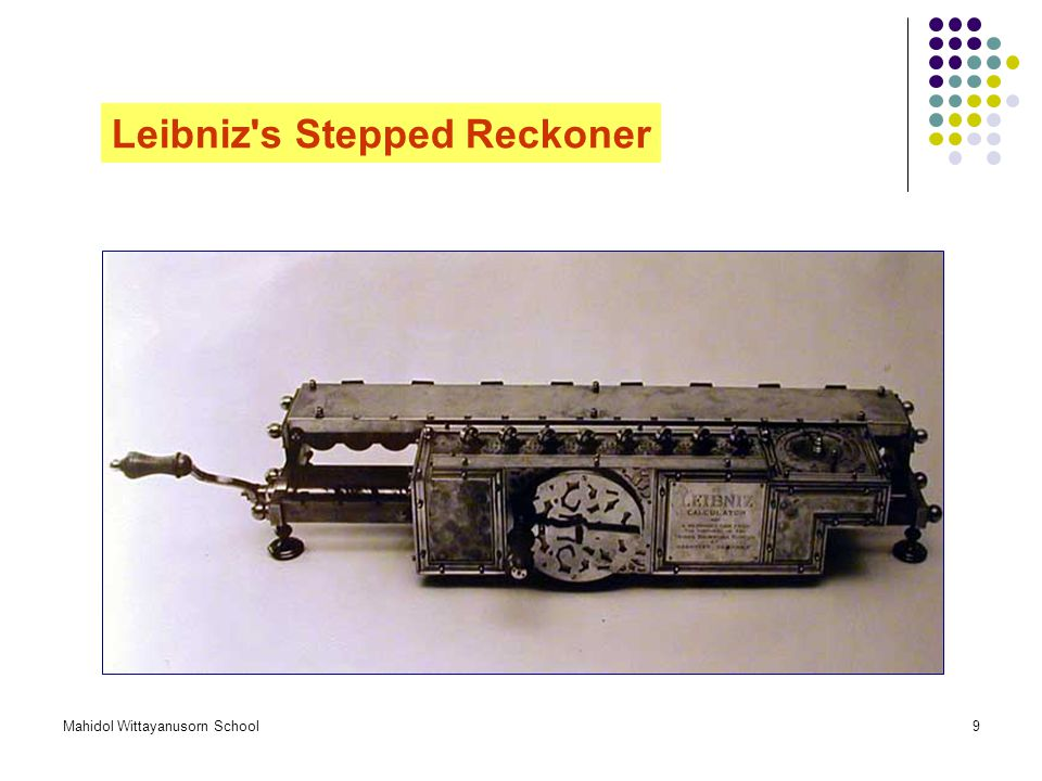 Leibniz s Stepped Reckoner