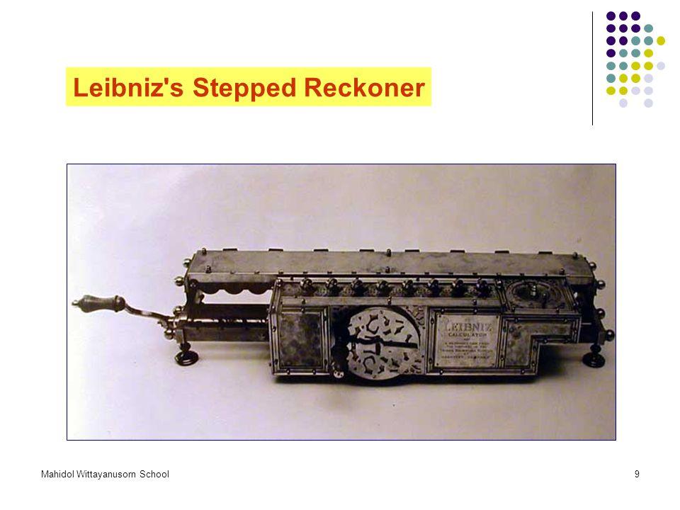 Leibniz s Stepped Reckoner