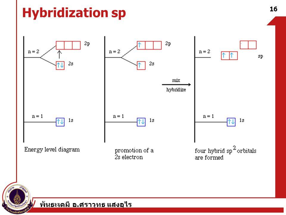 Hybridization sp พันธะเคมี อ.ศราวุทธ แสงอุไร