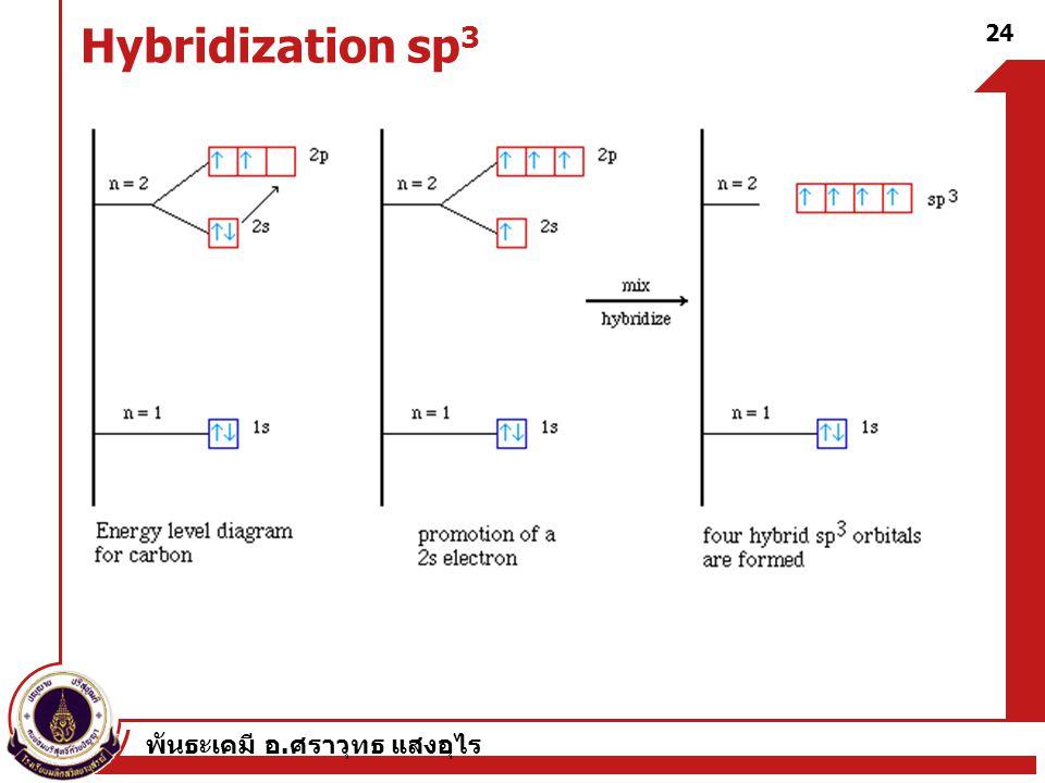Hybridization sp3 พันธะเคมี อ.ศราวุทธ แสงอุไร