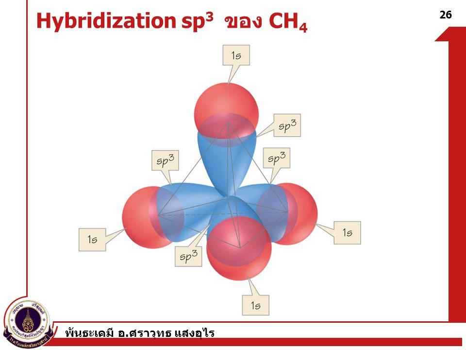 Hybridization sp3 ของ CH4