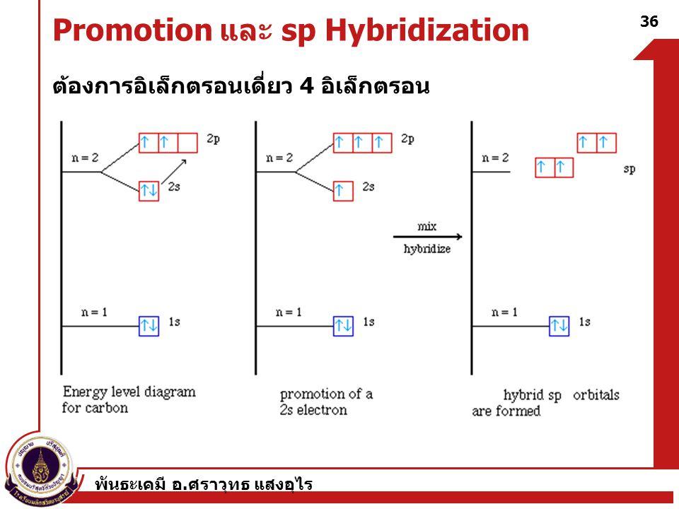 Promotion และ sp Hybridization