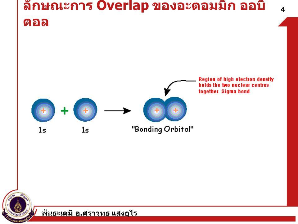 ลักษณะการ Overlap ของอะตอมมิก ออบิตอล