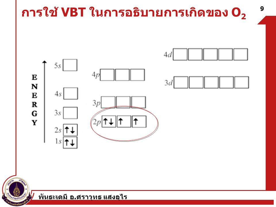การใช้ VBT ในการอธิบายการเกิดของ O2