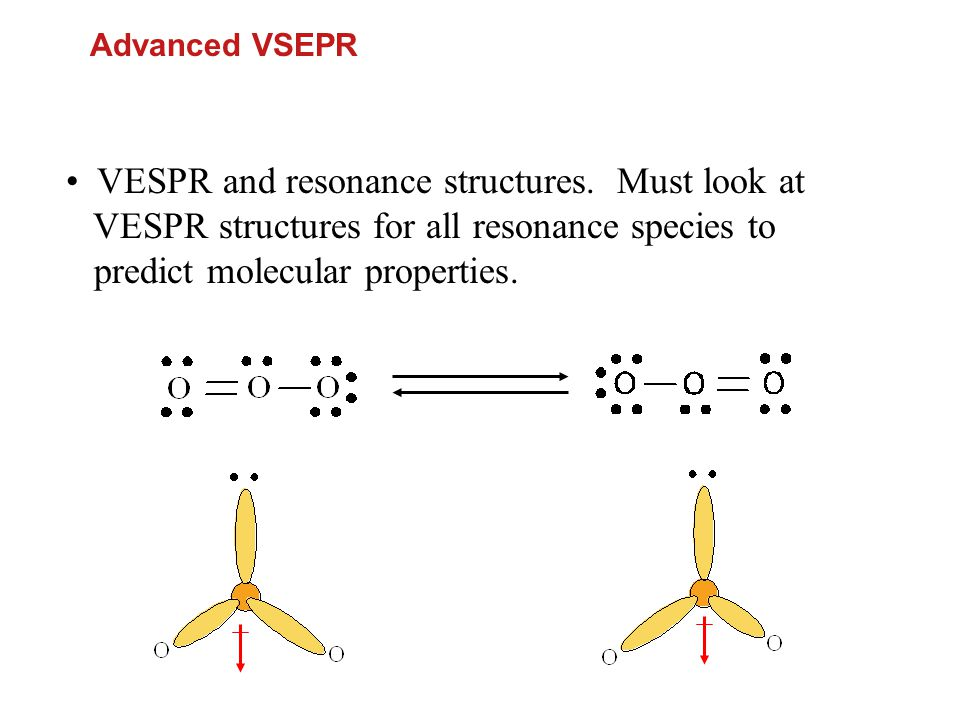 • VESPR and resonance structures. Must look at