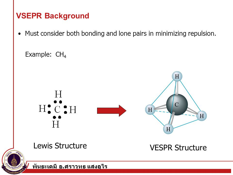 VSEPR Background Lewis Structure VESPR Structure