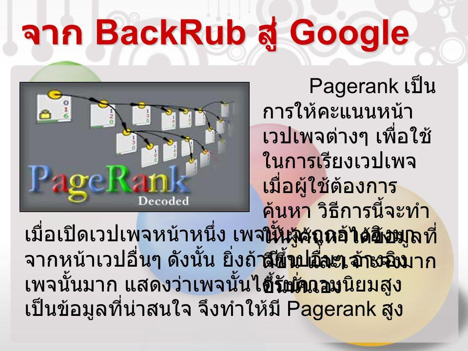 จาก BackRub สู่ Google