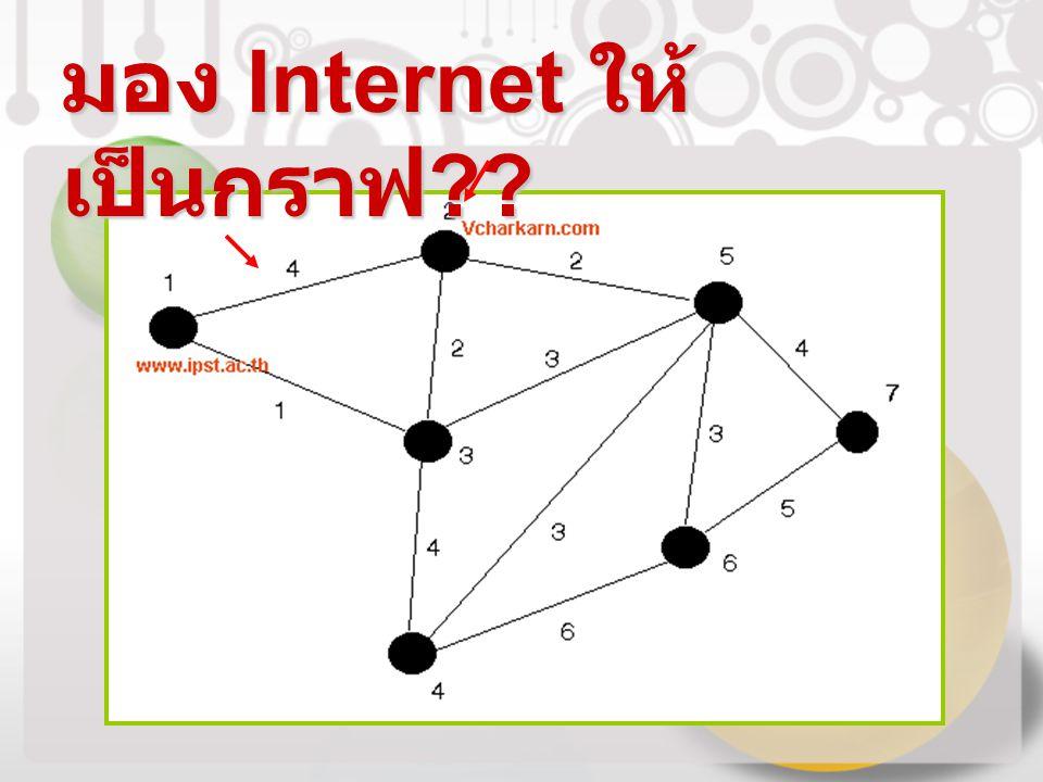มอง Internet ให้เป็นกราฟ