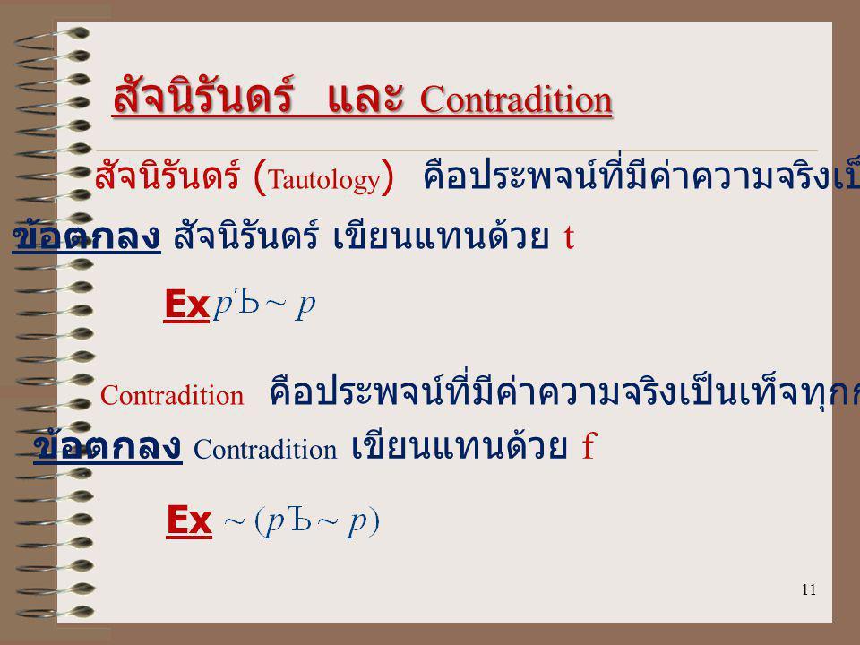 สัจนิรันดร์ และ Contradition