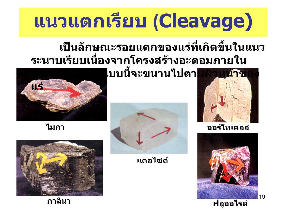 แนวแตกเรียบ (Cleavage)