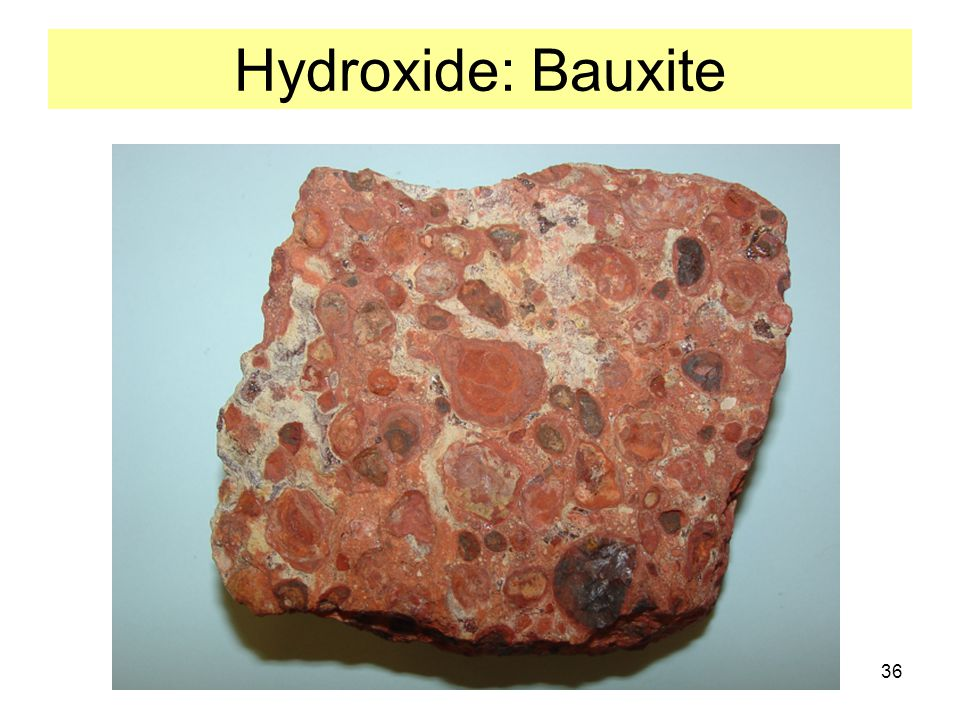 Hydroxide: Bauxite