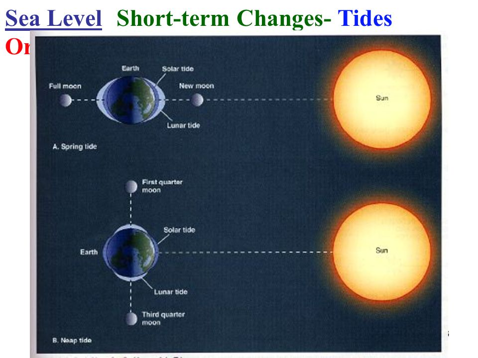 Sea Level Short-term Changes- Tides Origin