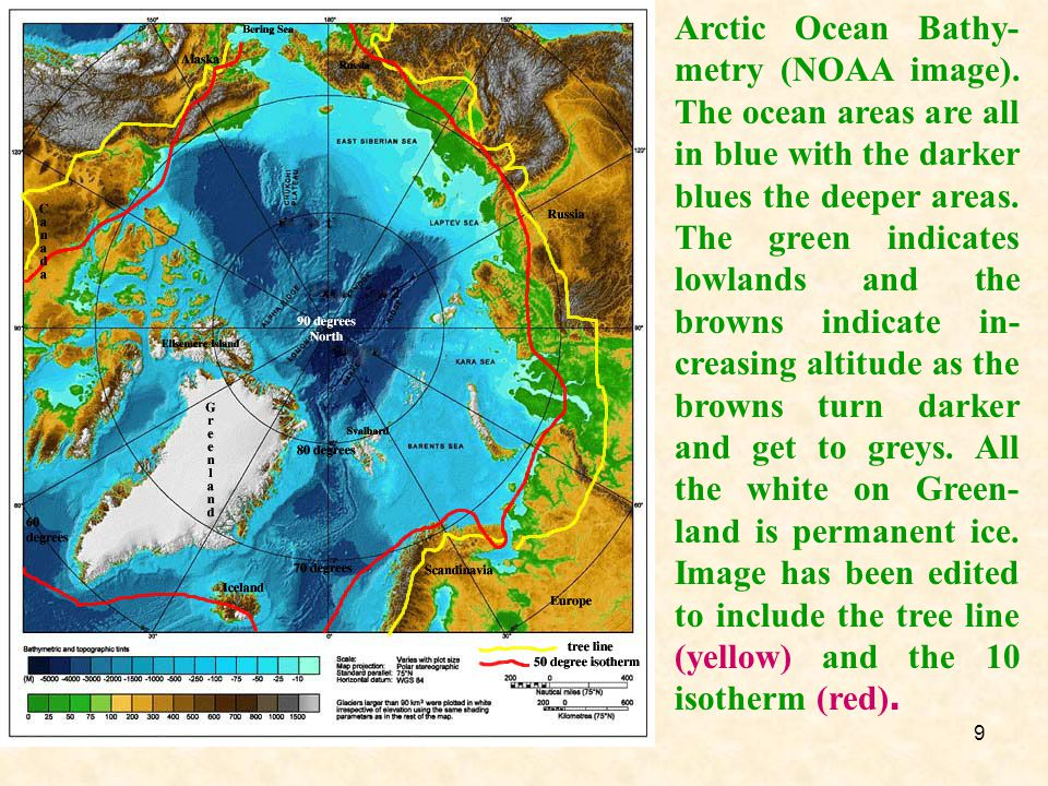 Arctic Ocean Bathy-metry (NOAA image)