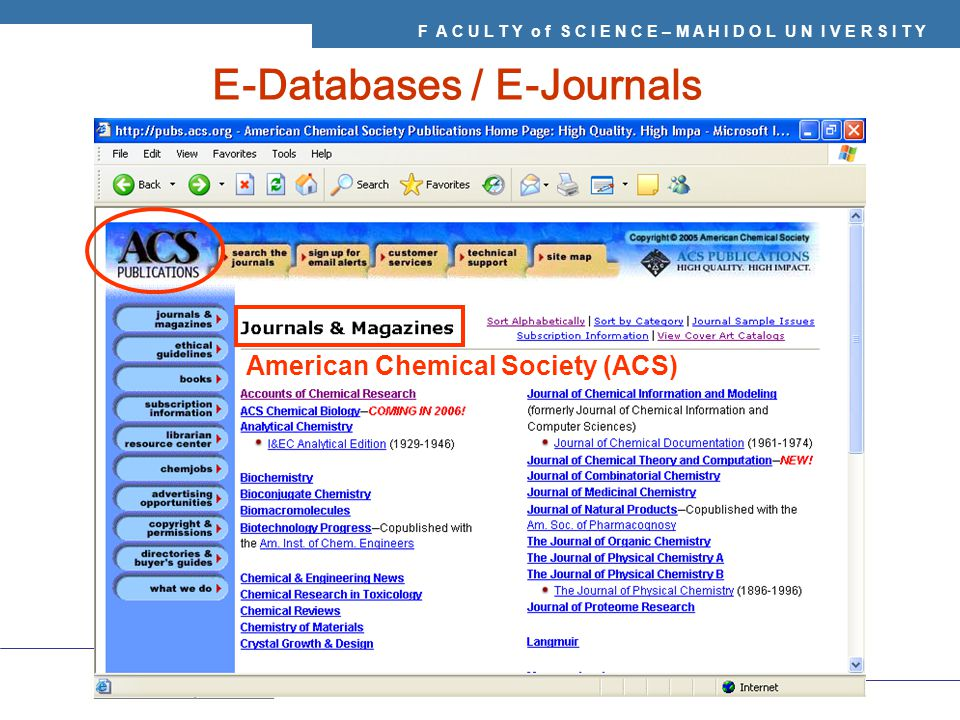 E-Databases / E-Journals