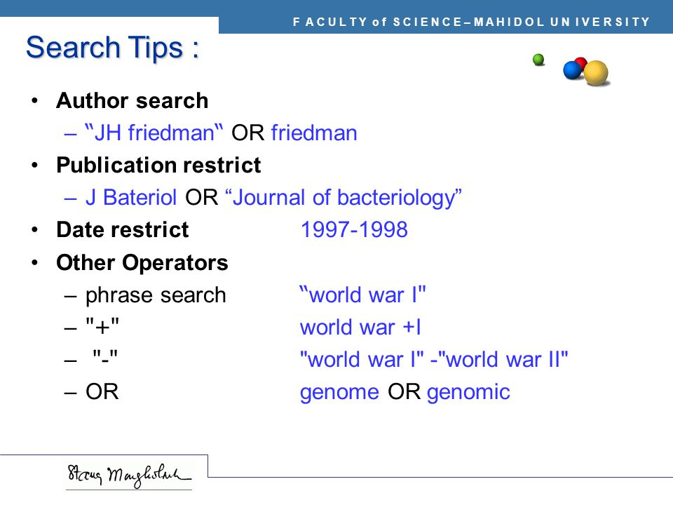 Search Tips : Author search JH friedman OR friedman