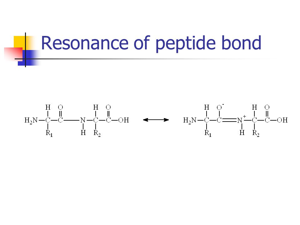 Resonance of peptide bond