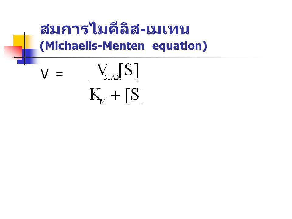 สมการไมคีลิส-เมเทน (Michaelis-Menten equation)
