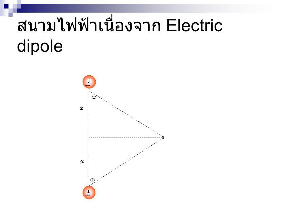 สนามไฟฟ้าเนื่องจาก Electric dipole