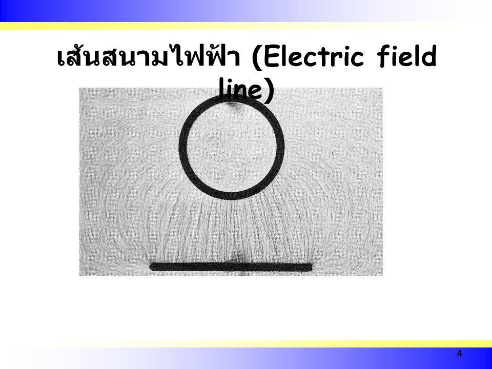 เส้นสนามไฟฟ้า (Electric field line)