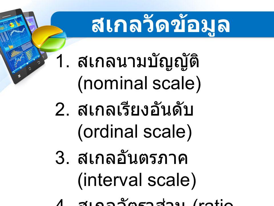 สเกลวัดข้อมูล สเกลนามบัญญัติ (nominal scale)