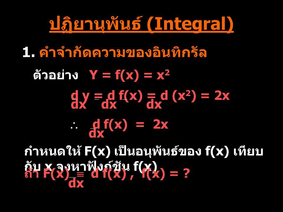 ปฏิยานุพันธ์ (Integral)