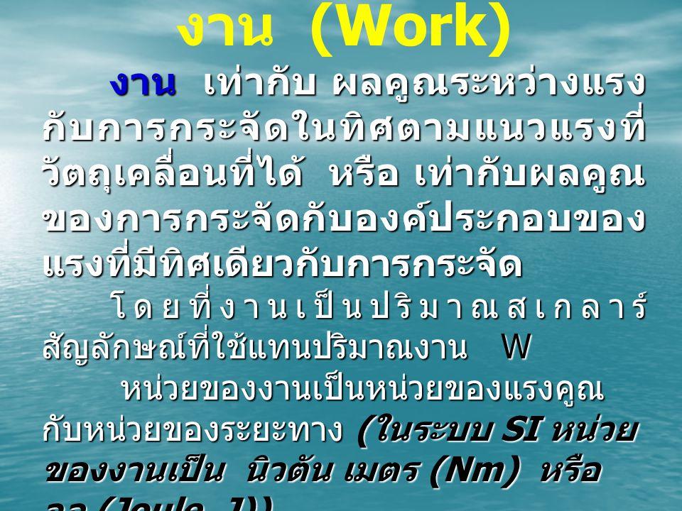 งาน (Work)