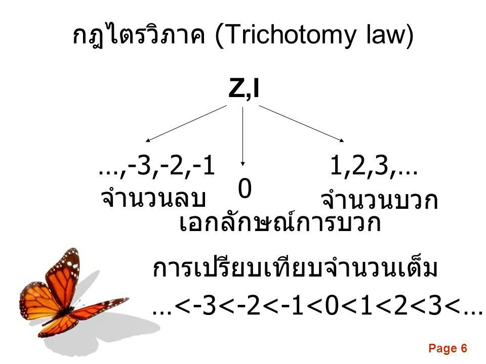 กฎไตรวิภาค (Trichotomy law)
