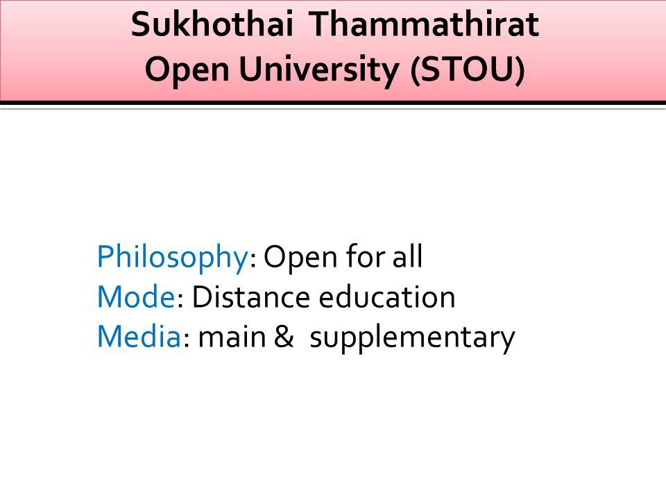 Sukhothai Thammathirat Open University (STOU)