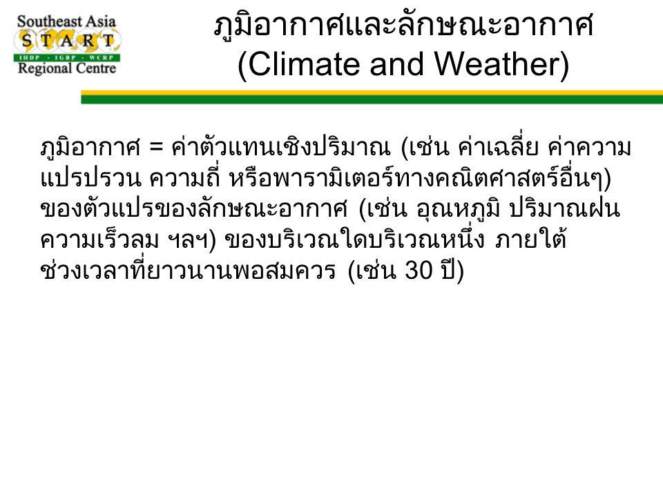ภูมิอากาศและลักษณะอากาศ