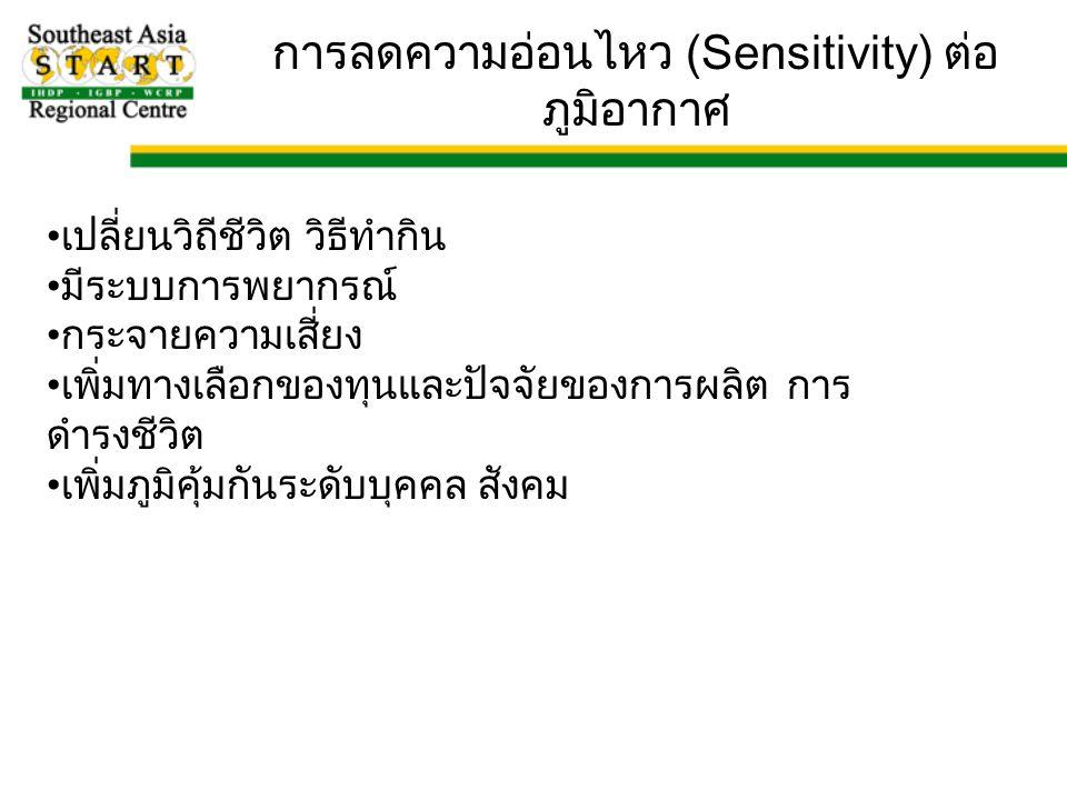 การลดความอ่อนไหว (Sensitivity) ต่อภูมิอากาศ