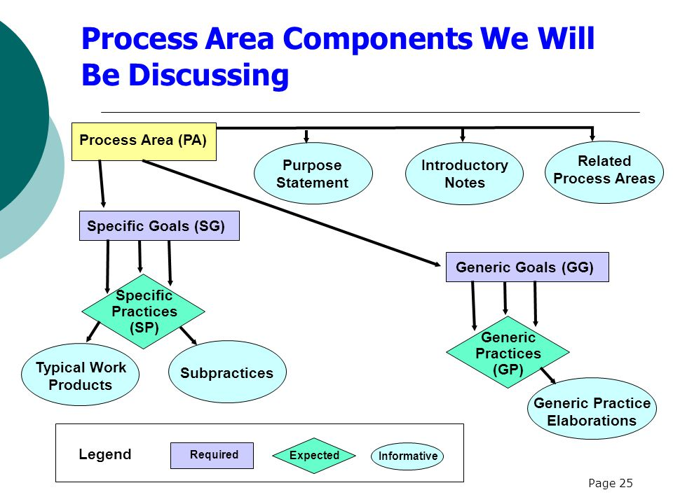 Process Area Components We Will Be Discussing
