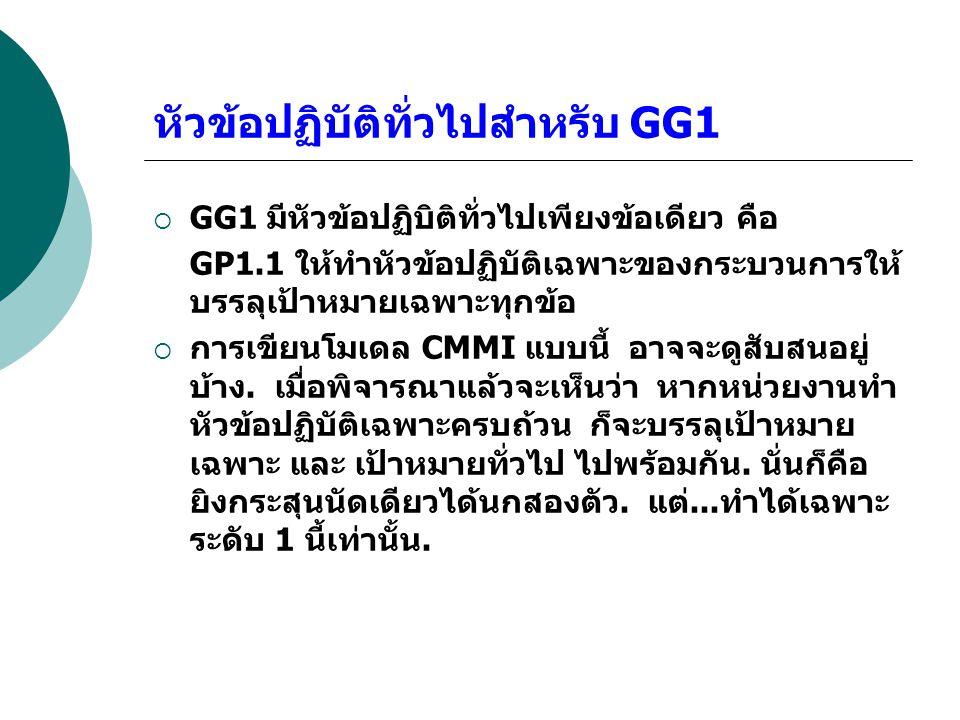 หัวข้อปฏิบัติทั่วไปสำหรับ GG1